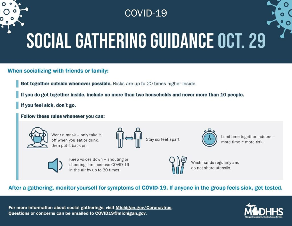 Social Gathering Guidance Oct. 29