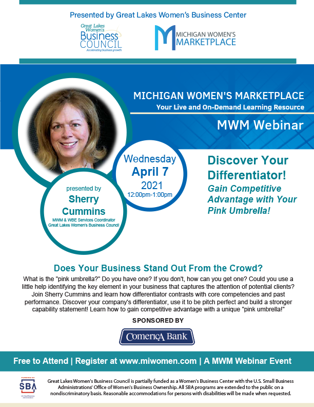 Discover Your Differentiator! Webinar