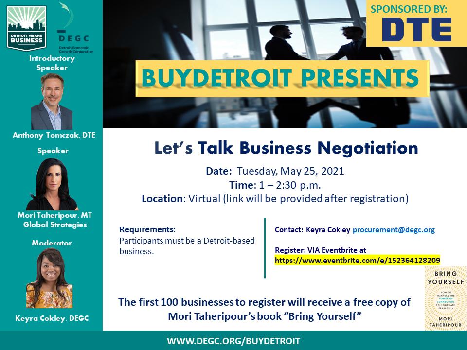Let's Talk business Negotiation