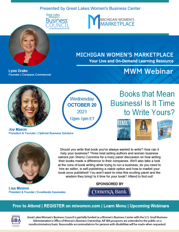 MWM Webinar - Books that Mean Business! Is It Time to Write Yours?