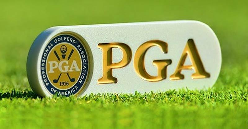 PGA logo on green grass